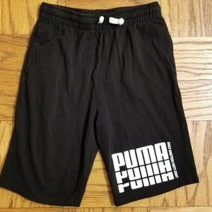 Puma Boy's Sz Large (14/16) Black Knit Shorts